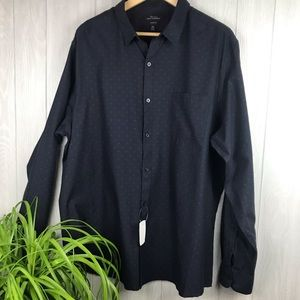 Marc Anthony slim fit blue long sleeve button down